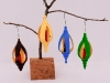 Allan Cusworth, xmas inside-out ornaments, Acrylic paints, Red Mahogany stain, & spray Lacquer