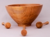 Allan Cusworth, Three Maple Honey Dippers, and bowl, Tung Oil