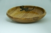 Beverley Pears,Quilted maple Gecko pyrographed platter,tung oil spray laqcuer