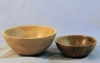 Instant Gallery-Bob Burke-2 bowls-unknown wood-D oil and wax