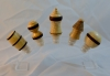 Allan Cusworth - Wine Bottle Stoppers - various woodsand dimensions - Shellawax Cream Lacquer