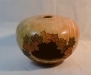 John Spitters - Small Hollow Form decorated with Maple Leaves - Quilted Maple - WO Poly