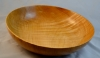 Al Timms - 12 in. fruit bowl - maple - tung oil wBeall buffing and carnuba wax