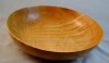 "12"" fruit bowl - maple - tung oil w/Beall buffing and carnuba wax - Al Timms"