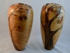 Hollow forms - collaboration - John Spitters/Gloria Hiebert - wipe on poly finish