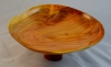 Ross Paterson 8 in. dish on pedestal - Cherry turned green - wo poly