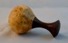 John Spitters - Baby Rattle - 2.75 x 5 - Maple Burl-Walnut - Wipe on Poly