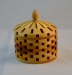 President's Challenge - Colin Delory - Lidded bowl with three woods - Segmented - Maple,Accacia, cherry - yellow glue - lacquer finish