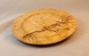 Barry Wilkinson_8%22 Maple Plate (bleached)_Tung Oil and Litchenberg Pyrography